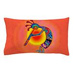 Lizard Kokopelli Sun Pillow Case