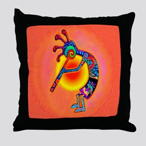 Lizard Kokopelli Sun Throw Pillow