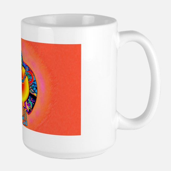Lizard Kokopelli Sun Large Mug Mugs