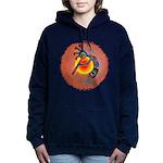 Lizard Kokopelli Sun Women's Hooded Sweatshirt