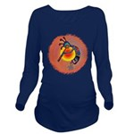 Lizard Kokopelli Sun Long Sleeve Maternity T-Shirt