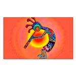 Lizard Kokopelli Sun Sticker (Rectangle)