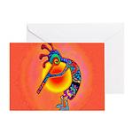 Lizard Kokopelli Sun Greeting Card