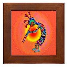 Lizard Kokopelli Sun Framed Tile