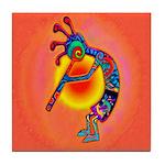 Lizard Kokopelli Sun Tile Coaster