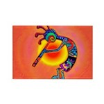 Lizard Kokopelli Sun Rectangle Magnet