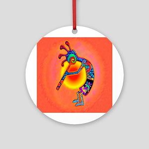 Lizard Kokopelli Sun Ornament (round)