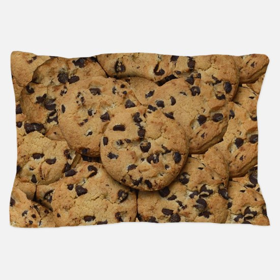 Chocolate Chop Cookie Pattern Pillow Case