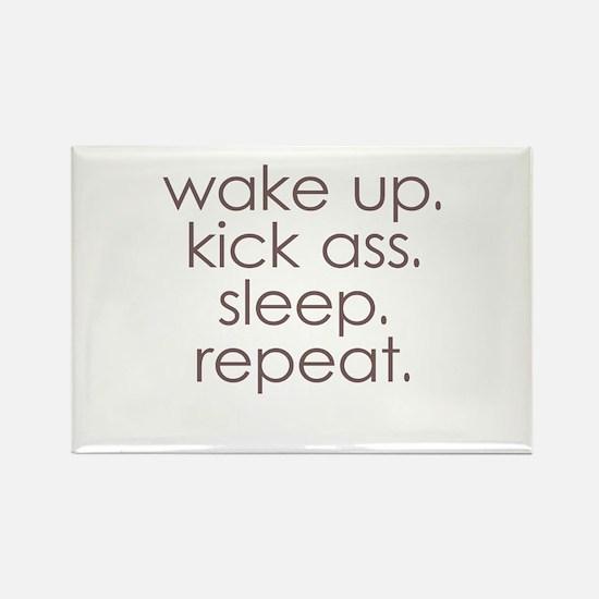 wake up kick ass sleep repeat Magnets