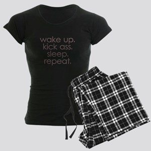 wake up kick ass sleep repeat Pajamas