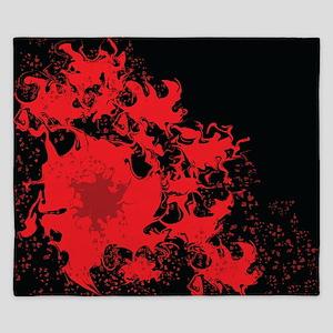 Red splatter on black background King Duvet