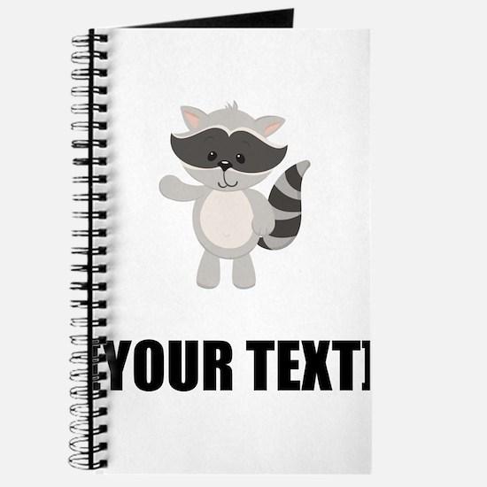 Cartoon Raccoon Waving Personalize It! Journal