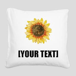 Sunflower Personalize It! Square Canvas Pillow