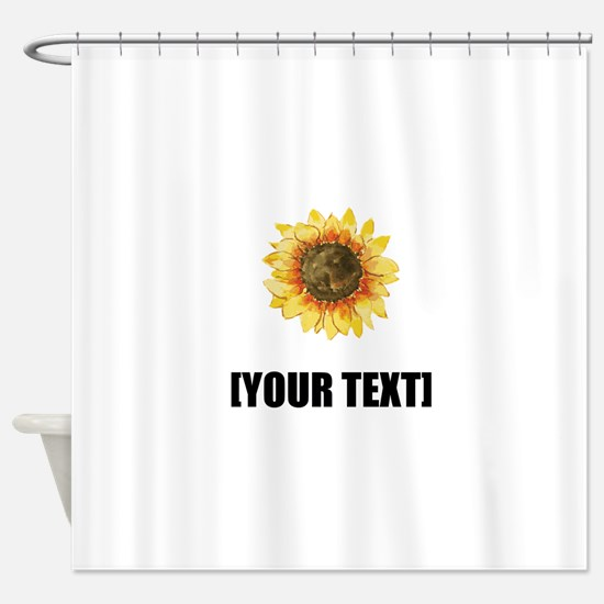 Sunflower Personalize It! Shower Curtain