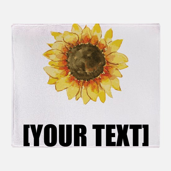 Sunflower Personalize It! Throw Blanket