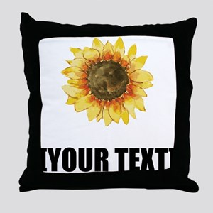 Sunflower Personalize It! Throw Pillow