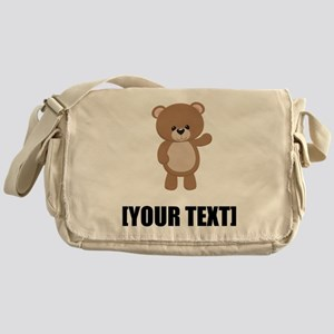 Teddy Bear Waving Personalize It! Messenger Bag