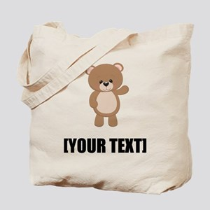 Teddy Bear Waving Personalize It! Tote Bag