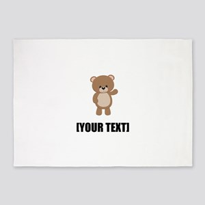 Teddy Bear Waving Personalize It! 5'x7'Area Rug
