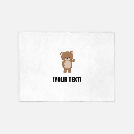 Teddy Bear Waving Personalize It! 5'x7'Area Rug