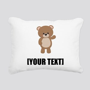 Teddy Bear Waving Personalize It! Rectangular Canv