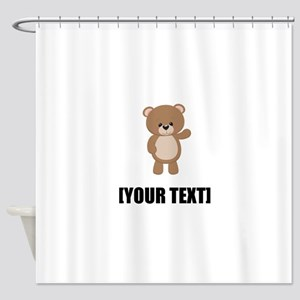 Teddy Bear Waving Personalize It! Shower Curtain