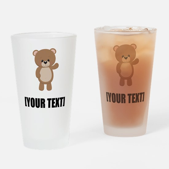Teddy Bear Waving Personalize It! Drinking Glass