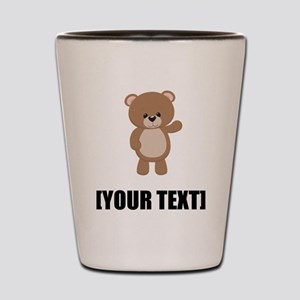 Teddy Bear Waving Personalize It! Shot Glass