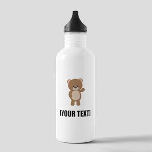 Teddy Bear Waving Personalize It! Water Bottle