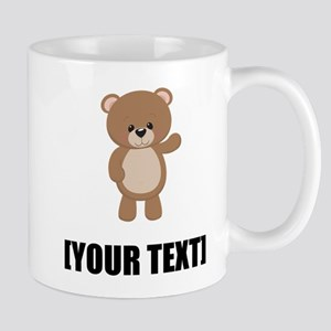 Teddy Bear Waving Personalize It! Mugs