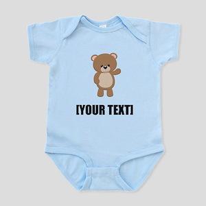 Teddy Bear Waving Personalize It! Body Suit