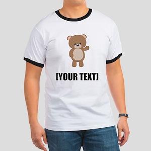 Teddy Bear Waving Personalize It! T-Shirt