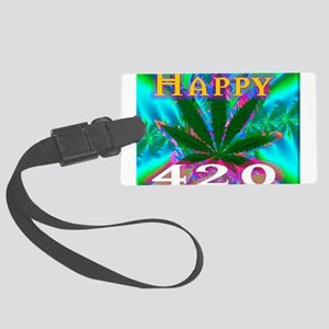 happy 420 Luggage Tag