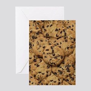 Chocolate Chop Cookie Pattern Greeting Cards