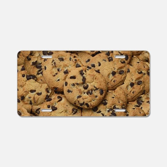 Chocolate Chop Cookie Patte Aluminum License Plate