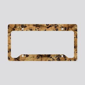 Chocolate Chop Cookie Pattern License Plate Holder