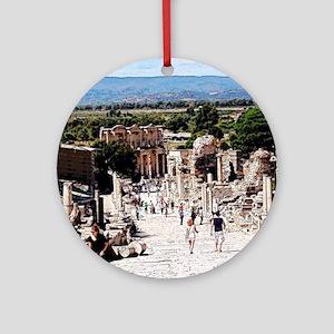 Ruins of Ephesus Ornament (Round)