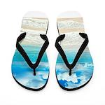 Beach Picture Flip Flops