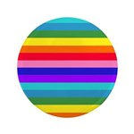 Stripes of Rainbow Colors Button