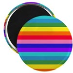 Stripes of Rainbow Colors Magnets