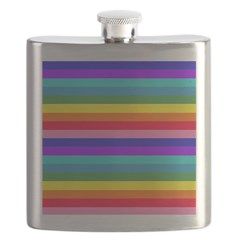 Stripes of Rainbow Colors Flask
