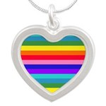 Stripes of Rainbow Colors Necklaces