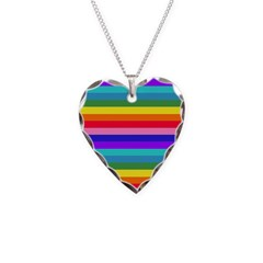 Stripes of Rainbow Colors Necklace