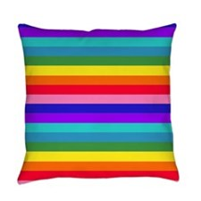 Stripes of Rainbow Colors Everyday Pillow