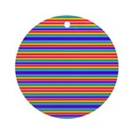 Tiny stripes of rainbow colors Ornament (Round)