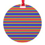 Tiny stripes of rainbow colors Ornament
