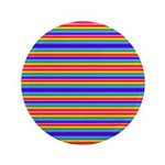 Tiny stripes of rainbow colors Button