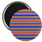 Tiny stripes of rainbow colors Magnets
