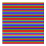 Tiny stripes of rainbow colors Square Car Magnet 3