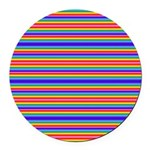 Tiny stripes of rainbow colors Round Car Magnet